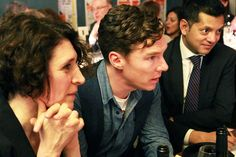 The Royal Court pub quiz fundraiser. His hair... I want to run my fingers through it so badly
