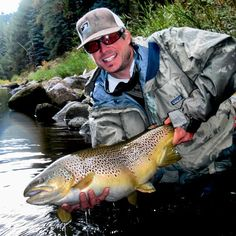 The Pine River, located near Durango, is managed as a wild trout fishery. Fish like this stunning brown blow me away. This brownie was slightly longer than 26 inches but she sported a 19.5 inch girth!  Thanks Instagramer @steeliesfukeneh