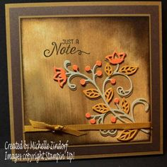 Autumn Note – Stampin' Up! Card