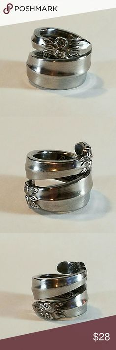 Gorgeous stainless steel spoon ring. Perfectly wrapped up stainless steel spoon ring. spoon Me Baby Designs  Jewelry Rings