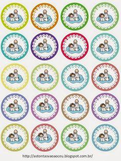 Toppers para Cupcakes - Batismo Menina