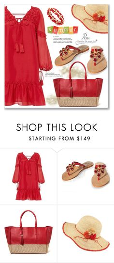 """""""Summer Vacation Style in Red"""" by boky-d ❤ liked on Polyvore featuring 10 Crosby Derek Lam, Frontgate and Charter Club"""