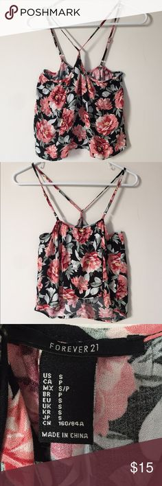Floral blouse Sleeveless floral blouse. Is slightly cropped. Brand new without tags. Worn only to try on. Forever 21 Tops Blouses