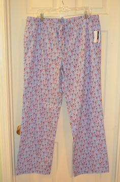 Vineyard Vines Seahorse Christmas Cotton Lazy Pants Pajamas-Size Large-BNWT