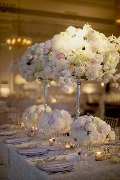 White Wedding Flowers By @evantinedesign