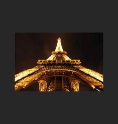 Toile Photo - Tour Eiffel de Nuit