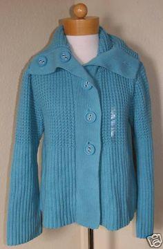 Liz Claiborne Women's Sweater Jacket Blue Sz L $89-NWT #LizClaiborne #Cardigan