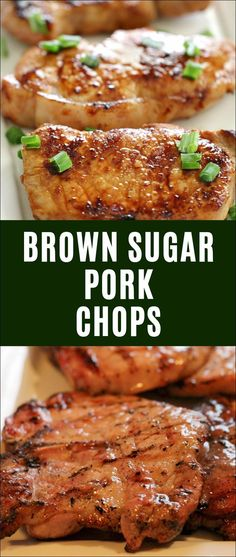 Brown Sugar Pork Chops #healthyporkchops