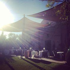 Morning in front of Salammbô restaurant @Hotel Les Deux Tours Marrakech by North Traveller blog