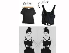 DIY T-shirt Cut-out Fashion Project black goth cool unusal top punk