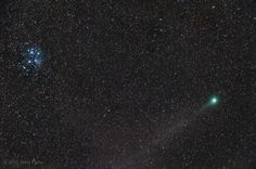Comet Lovejoy and Pleiades