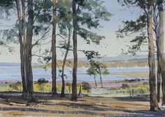 Oliver has established himself as a successful watercolour artist speacialising in landscape paintings of the UK and Europe. Watercolor Scenery, Watercolor Painting Techniques, Watercolor Landscape Paintings, Watercolor Trees, Watercolor Artists, Gouache Painting, Spring Landscape, Landscape Art, Cityscape Art