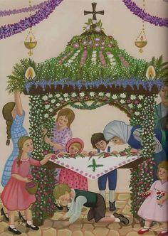 Vintage Cards, Vintage Postcards, Greek Easter, Easter 2014, Church Flowers, Holy Week, Vintage Easter, Nature Crafts, Happy Easter