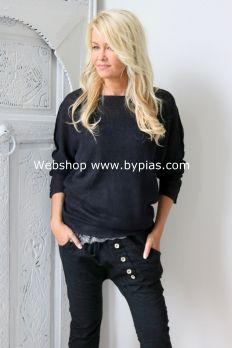 COSTA BLANCA Linen knit, BLACK