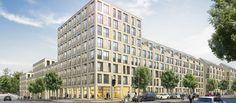 In Pasing entstehen 120 frei finanzierte Wohnungen. Bild: Projektgesellschaft 2 Offenbachstraße/Steidle Architekten http://www.immobilien-zeitung.de/1000043729/m-concept-macht-in-muenchen-jetzt-auch-masse