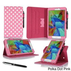 rooCASE Dual View Smart Cover Stand Folio Case with Stylus for Samsung Galaxy Tab 4 8.0 SM-T330 Foli