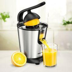 Press Juicer Machine Maker Motorized Stainless Steel Power Squeeze Fresh Citrus #PressJuicer