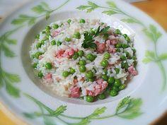 Risotto con piselli e pancetta @ http://allrecipes.it
