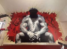 photorealistic graffiti art by cusp, I bet you don't go to many gyms to workout…