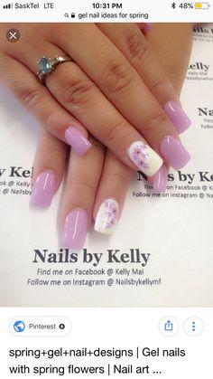 Bling Nails, My Nails, Winter Nails, Summer Nails, Nude Nails, Acrylic Nails, Fingernail Polish Designs, Cherry Blossom Nails, Nail Photos