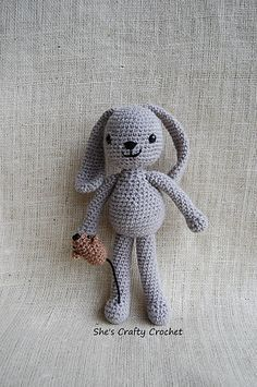 FREE Crochet Pattern ♥ Bunny Foo Foo This pattern uses roughly half of the recommended yarn. Approx (3.5-4 oz) #toy #amigurumi #crochet