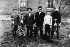 Rabbit hunt An informal portrait of a group of hunters after a rabbit hunt in Labette County Kansas. Date: Between 1910 and 1920