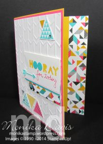 Stampin' Up! - Geometrical stamp set, Triangle Punch, Arrows Embossing Folder and Kaleidoscope Designer Series paper