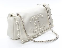 Chanel Ltd Ed Lambskin Pearl Medium Flap