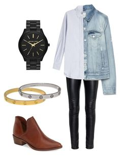 """""""My designer look for office thursdays"""" by mars-mars on Polyvore featuring Steve Madden, Yves Saint Laurent, Closed, MICHAEL Michael Kors, Cartier and Zara"""