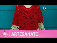 Vida com Arte | Poncho em crochê por Claudia Maria - 30 de Julho de 2016 - YouTube