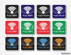 WLAN Kommunikation Symbole