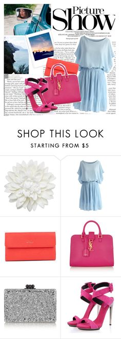 """Take A Picture"" by twinklepink ❤ liked on Polyvore featuring SANCHEZ, Monki, Chicwish, Yves Saint Laurent, Edie Parker and Posh Girl"