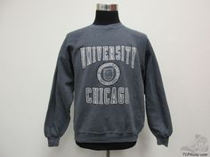 Vtg 90s Gear University of Chicago Maroons Crewneck Sweatshirt sz L Large NCAA #Gear #SweatshirtCrew #tcpkickz