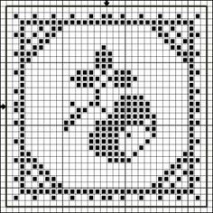 Square 27 | Free chart for cross-stitch, filet crochet | Chart for pattern - Gráfico