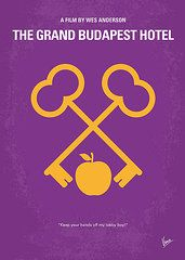 - No347 My The Grand Budapest Hotel minimal movie poster  by Chungkong Art