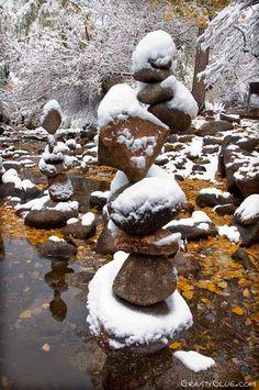 The stone balance art of Michael Grab, Colorado