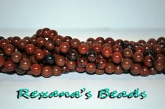 """16"""" Strand of Mahogany Obsidian 8mm Round Beads. Starting at $4 on Tophatter.com!"""