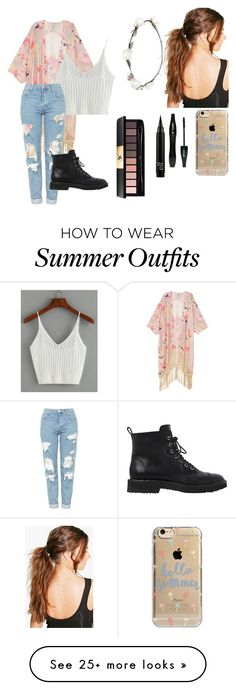 """Summer Outfit"" by classycamelcar on Polyvore featuring Melissa McCarthy Seven7, Topshop, Boohoo, Lipsy, Agent 18, Lancôme, Yves Saint Laurent, Giuseppe Zanotti and plus size clothing"