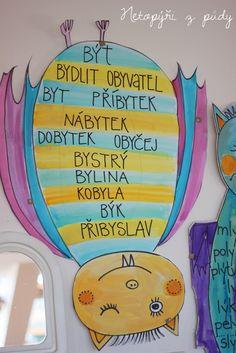 U nás na kopečku: Vyjmenovaní netopýři Dena, School Humor, School Hacks, Learning Games, Kids Education, Grade 1, Funny Kids, 3 D, Language