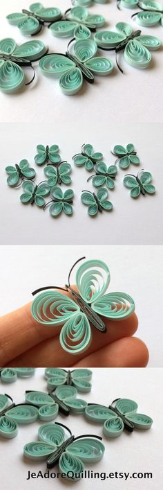 Butterflies Blue Sky Arctic Spring Table Confetti Dinner Ornament Valentines Mothers Day Baby Bridal Shower Wedding Gift Scatter Quilling