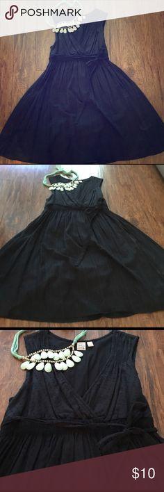 Black Sundress Black sundress - cotton material. Necklace not included :) Dresses Mini