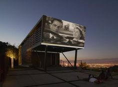 Outdoor Home Cinema - Skyline Residence,Hollywood Hills