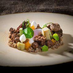 Morel mushrooms Foie gras egg buckwheat #chefsofinstagram #chefstalk #gastronomy #instafood #instagood #finedining #foodart #foodporn #theartofplating #food by stam_halfmike