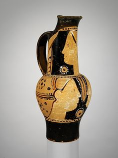 Terracotta oinochoe (jug)  Attributed to the Torcop Group  Period: Hellenistic Date: ca. 300 B.C. Culture: Etruscan