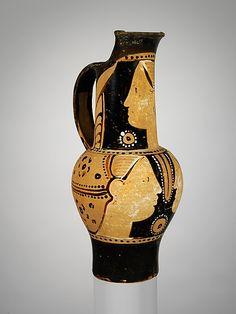Etruscan painted terracotta jug ca. 300 B.C