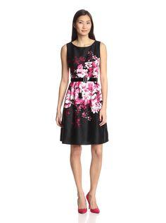 Chetta B Women's Belted Floral Dress at MYHABIT
