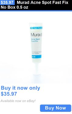 Acne and Blemish Treatments: Murad Acne Spot Fast Fix No Box 0.5 Oz BUY IT NOW ONLY: $35.97
