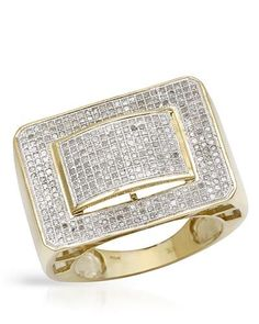 Brand New Ring With 1.30ctw Genuine Diamonds Yellow Gold. Total item weight 11.7g - Certificate Available.