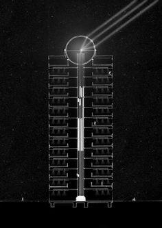 Li-fi integrated building core