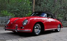1957 Porsche 356A Speedster, I'd never have a red car but I'd go with this model, different color.